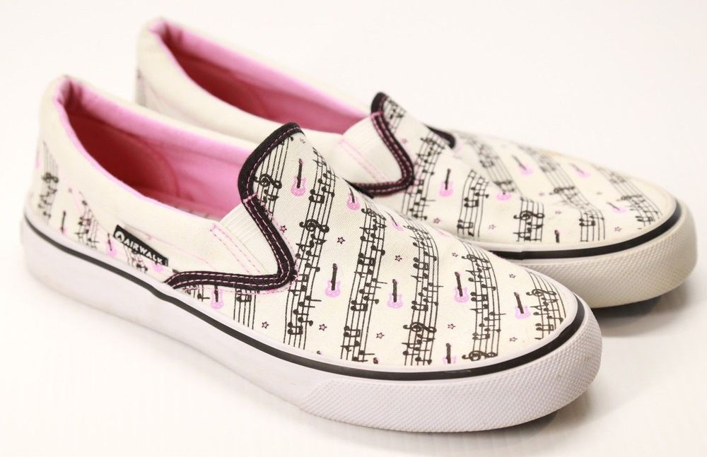 135e3728700b Women s Airwalk Slip On Shoes Canvas Musical Notes Size 8.5  AIRWALK  LowTop