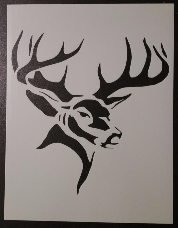 Hunting Buck Head Deer Custom Stencil FAST FREE SHIPPING | Products
