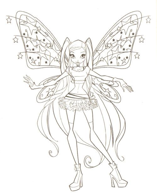 Winx Club Is Being Pointed Out Something Coloring Pages | Paper doll ...