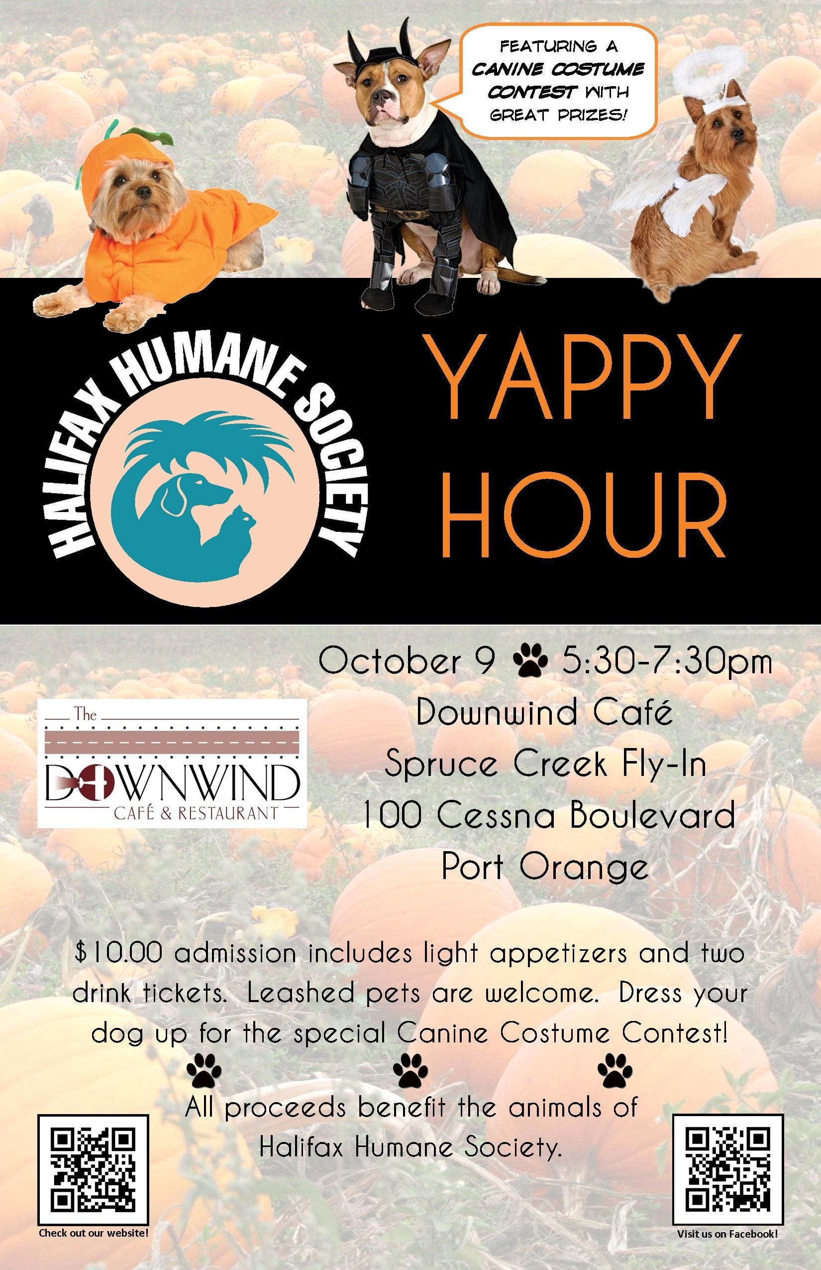 Join Hhs For The October Yappy Hour At The Downwind Cafe In The