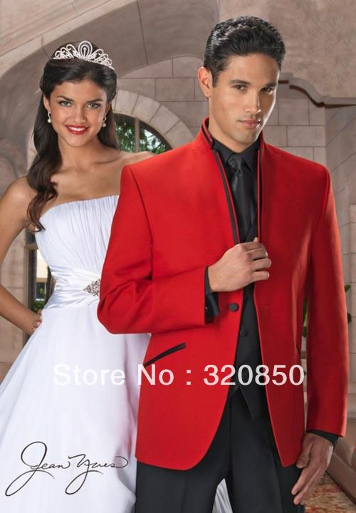 men's black and red tuxedo for wedding | ... Wedding man for Suits ...