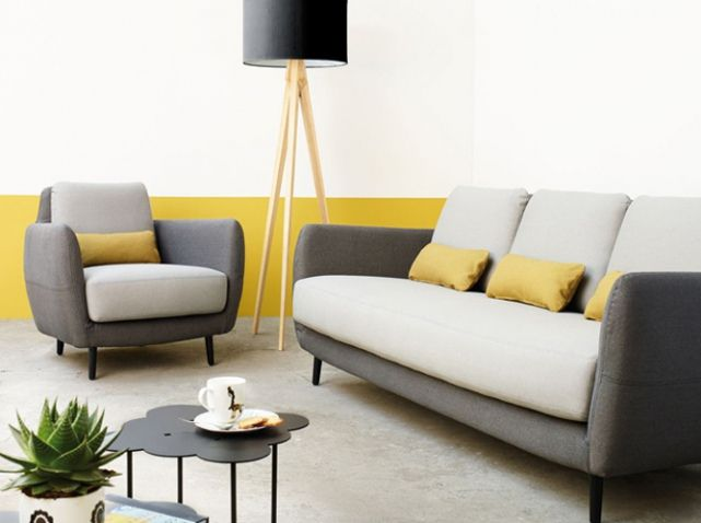 jaune moutarde mur salon | Furniture | Pinterest | Moutarde, Jaune ...