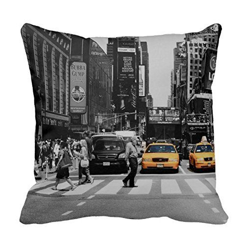 black and white new york cushion taxi cab yellow pillow c - Jugendzimmer Im New York Stil