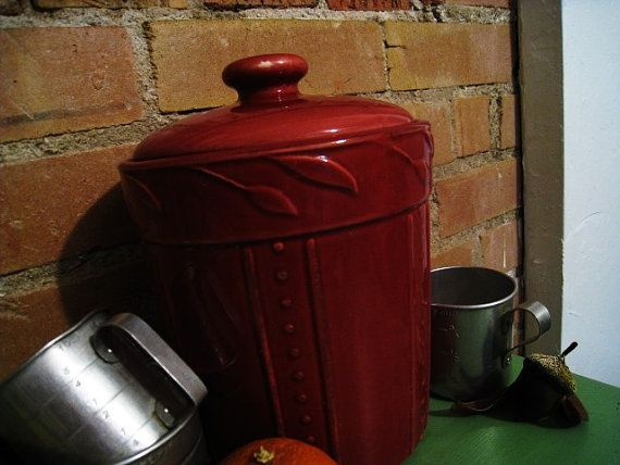 maroon ceramic compost pot kitchen decor by snapdragonscullery - Maroon Kitchen Decor