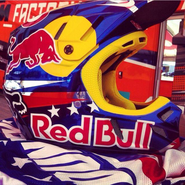 Ryan Dungey S Red Bull Motocross Helmet Motocross Helmets Red Bull Motocross Motocross