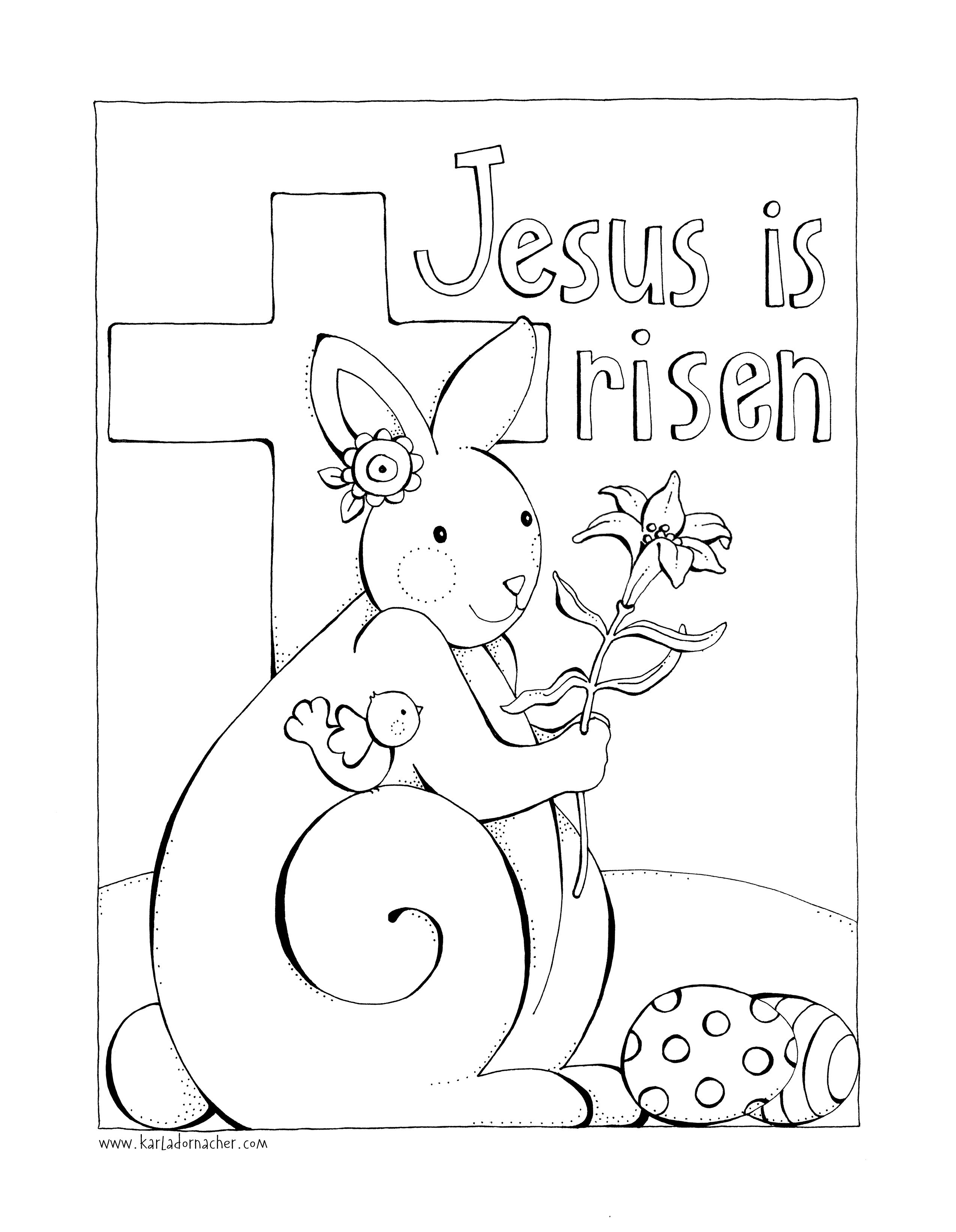 Jesus Is Risen Free Easter Coloring Page You Can