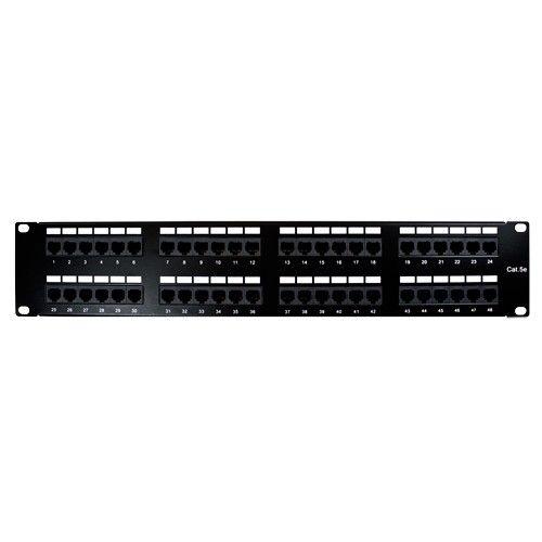 Vericom Patch Panel Cat5e 48 Port Black Patch Panels Patch Panel Cable Management