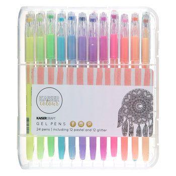 Kaiser Colour Gel Pens 24 Piece Set Hobby Lobby 1330349 Gel Pens Pen Colored Pens