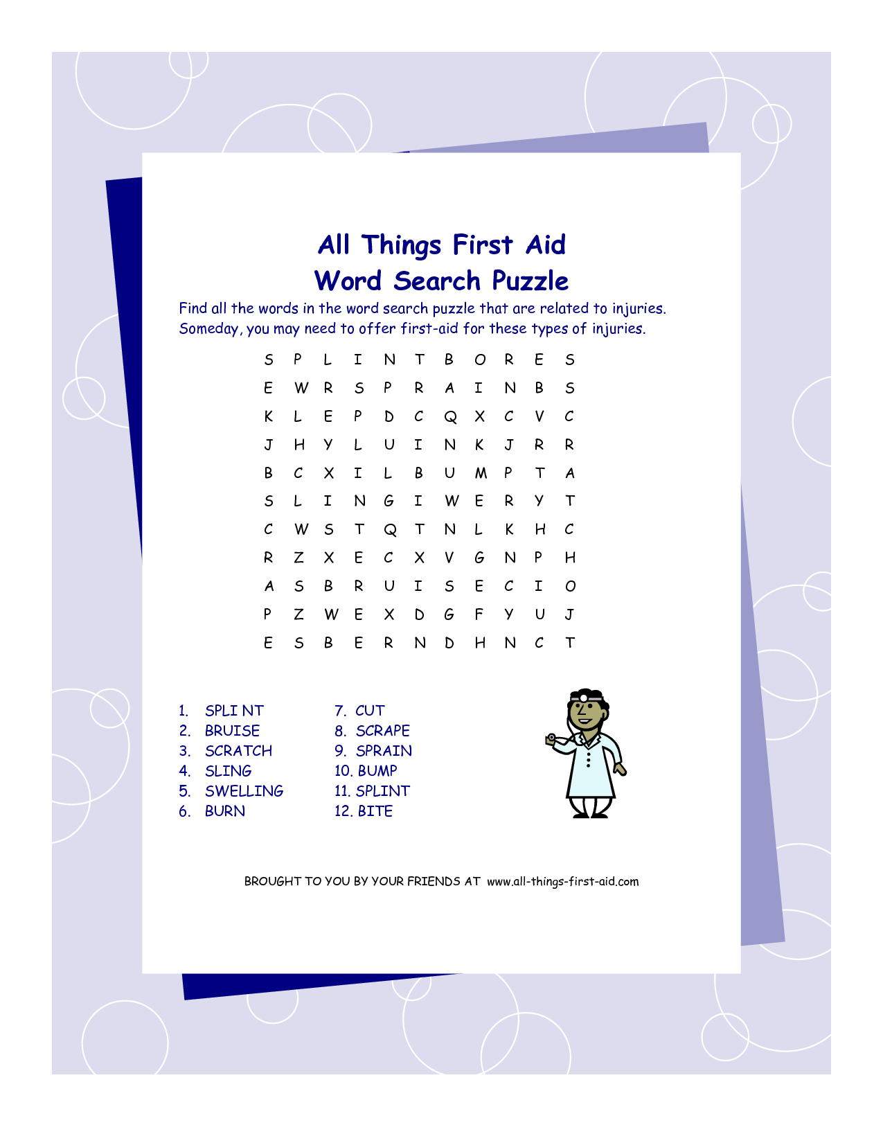worksheet First Aid Worksheets pin by meghan harrington patton on aid pinterest word search see 4 best images of first printable inspiring s