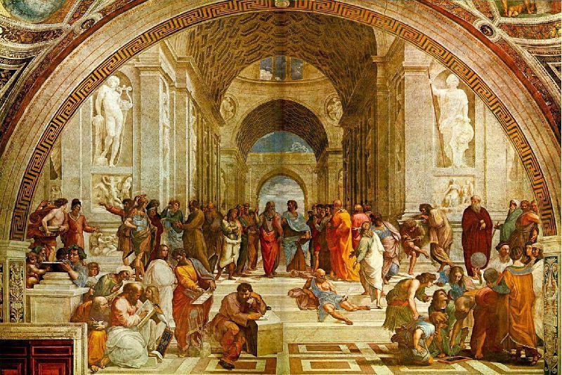 l 39 cole d 39 ath nes 1509 10 est une fresque du peintre italien rapha l expos e dans la chambre. Black Bedroom Furniture Sets. Home Design Ideas