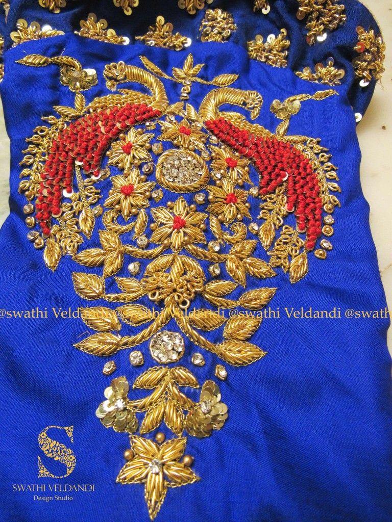 Pin by shuba murali on thread and zari work pinterest blouse