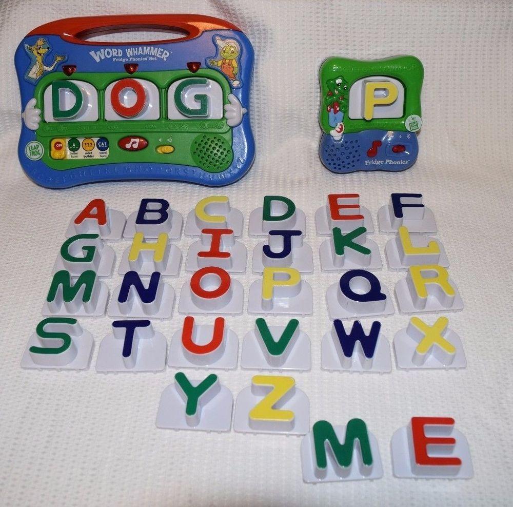 Leap Frog Letter & Word Whammer Fridge Phonics Set Refrigerator Alphabet Extras Developmental