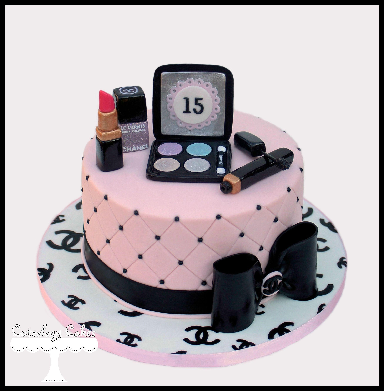 Chanel Makeup Cake Facebook I Loveteology Cakes