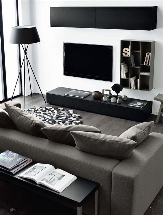 16 Elegant Contemporary Living Rooms Home Design Lover Small Apartment Living Room Bachelor Pad Living Room Modern Living Room Interior