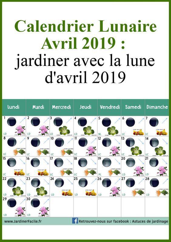 Calendrier Lunaire Avril Jardiner Avec La Lune D Avril 2019