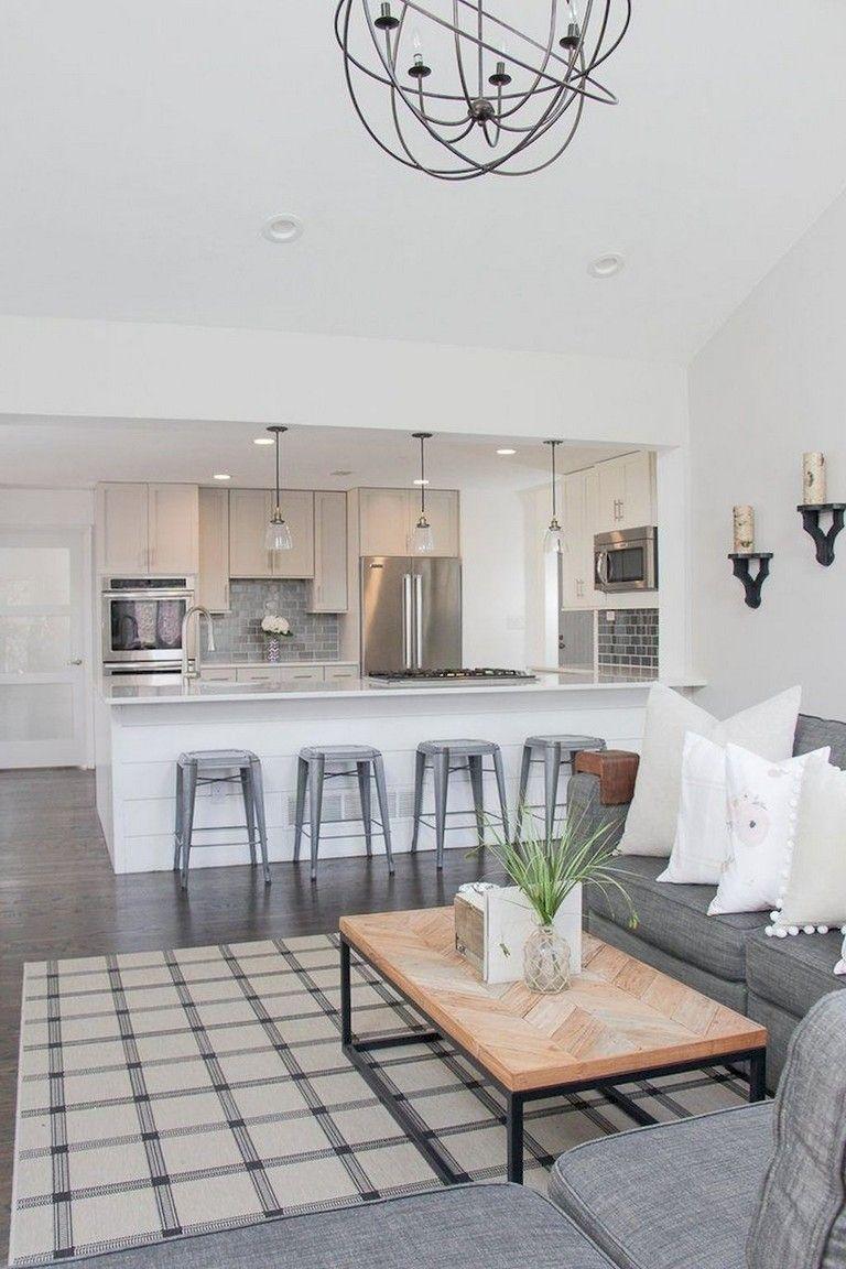 Kitchen And Living Room Interior Design: 75+ Comfy Apartment Living Room Decor Ideas