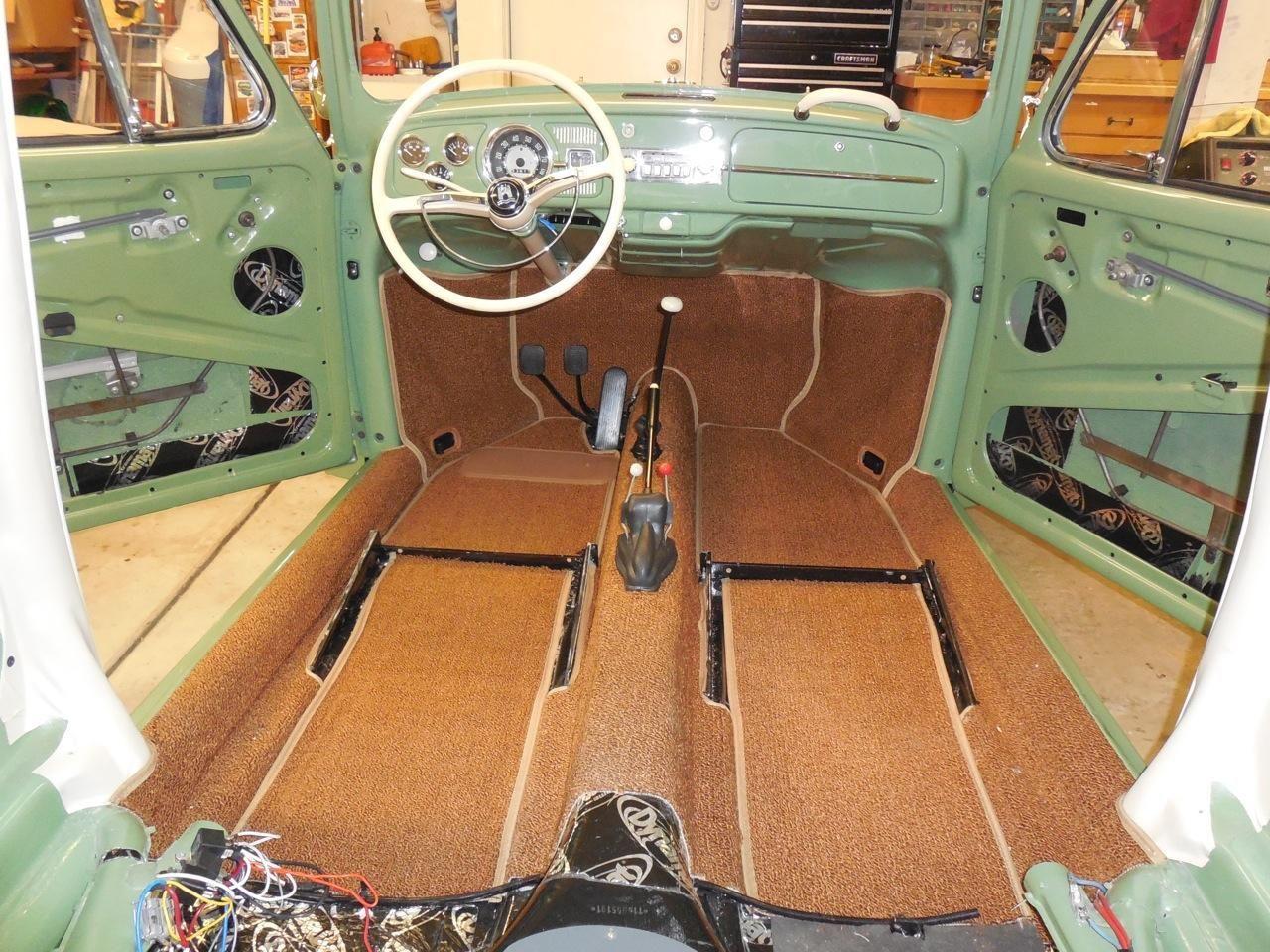 Volkswagen Bug Agave Green Project Carpet Sewfine Volkswagenbrasilia Vw Bug Interior Volkswagen Vintage Volkswagen