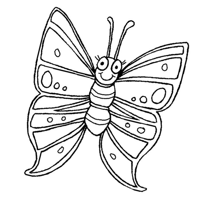 Butterfly Very Cute Coloring Page | Coloring pages, Cute coloring ...