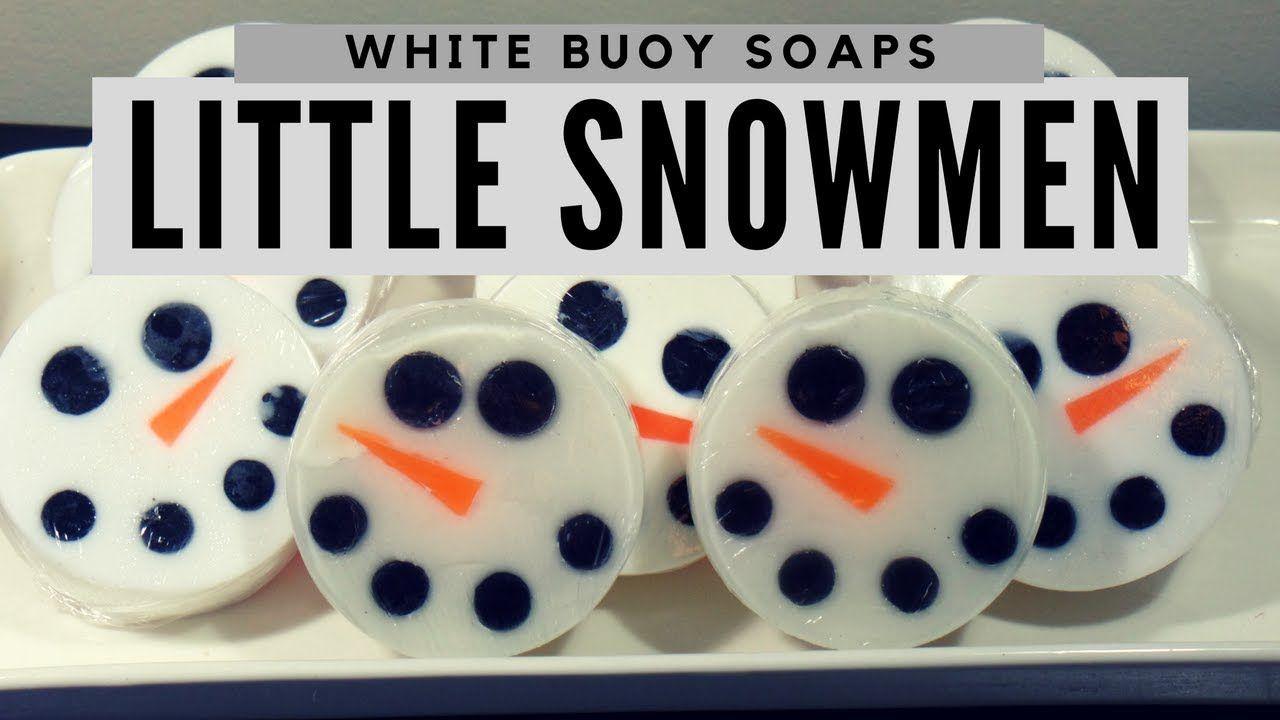Snowman Faces/ Melt and Pour Soap Making/Seasonal Soap/White