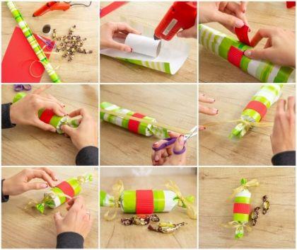 Bricolage de Noël avec rouleau papier toilette en 7 propositions splendides #rouleaupapiertoilette