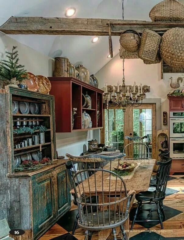 Primitive country look. | Primitive decor | Pinterest | Küche, Küche ...