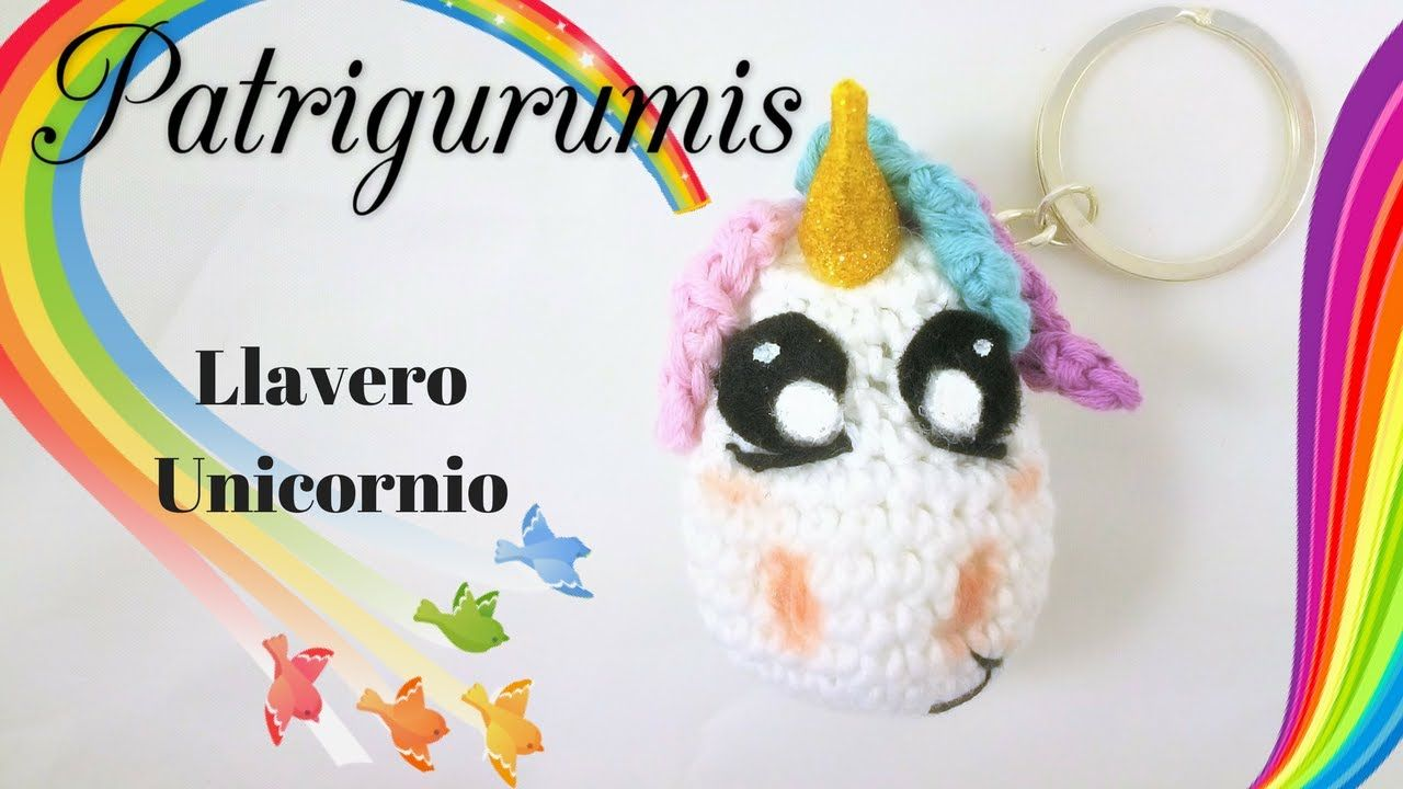 Llavero Unicornio Amigurumi!! | amigurumi crochet | Pinterest ...