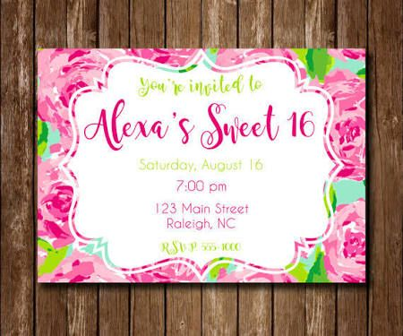 Lilly Pulitzer Invitations Template
