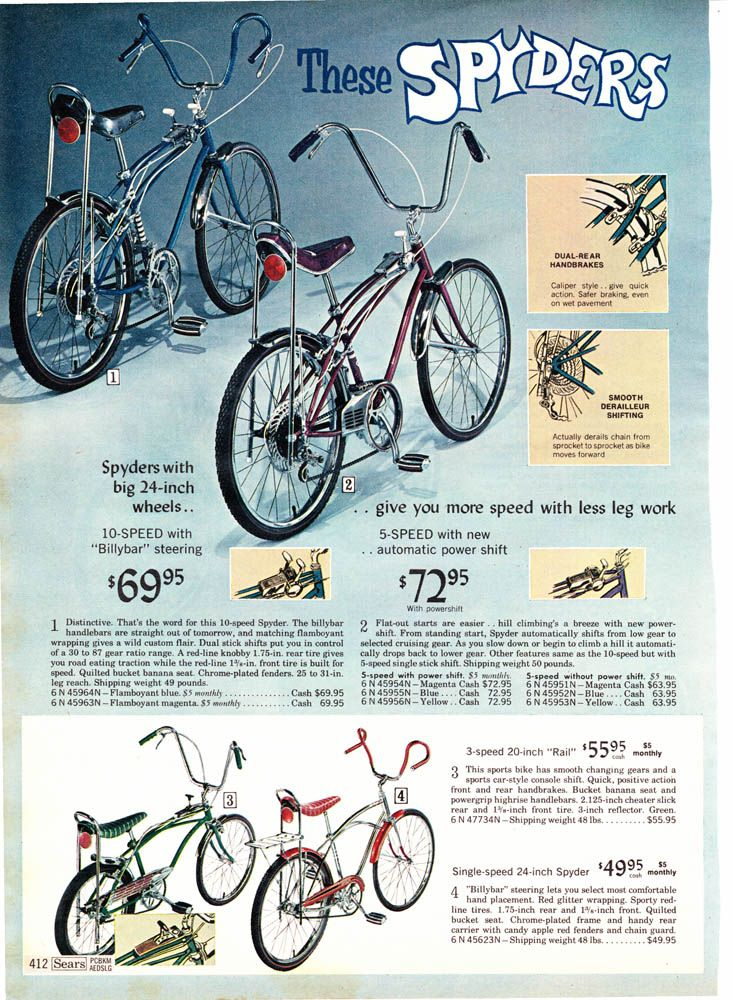 Spider Bikes Sears 1968 These Bikes Were Very Expensive Back In