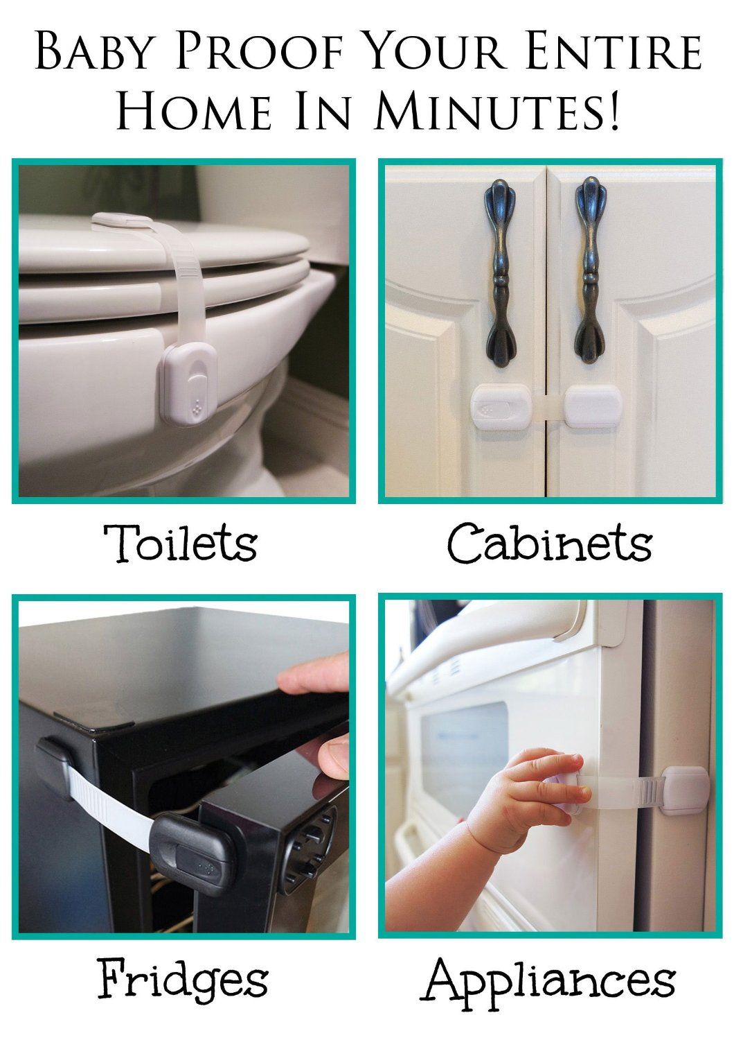 Child Safety Locks | For Baby Proofing Cabinets, Drawers, Appliances ...
