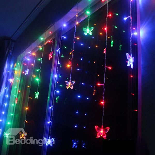 48 Warm White LED Battery Operated Outdoor Timer Lights on Clear Wire 3.5m