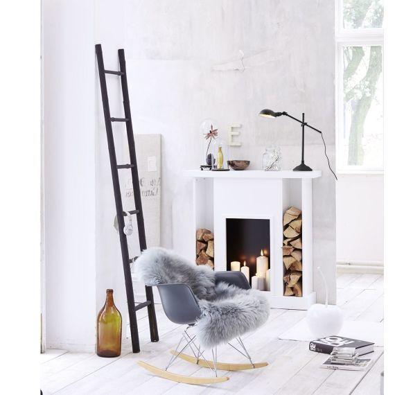 Kaminkonsole, 2 Feuerholzablagefächer Katalogbild