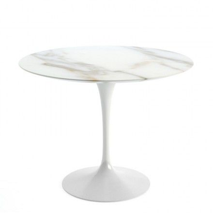 Knoll Saarinen Round Dining Table 91cm White Base Round Dining