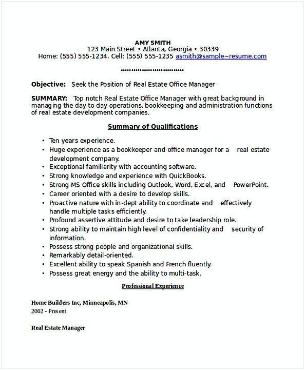 real estate office manager resume 1 general manager resume find