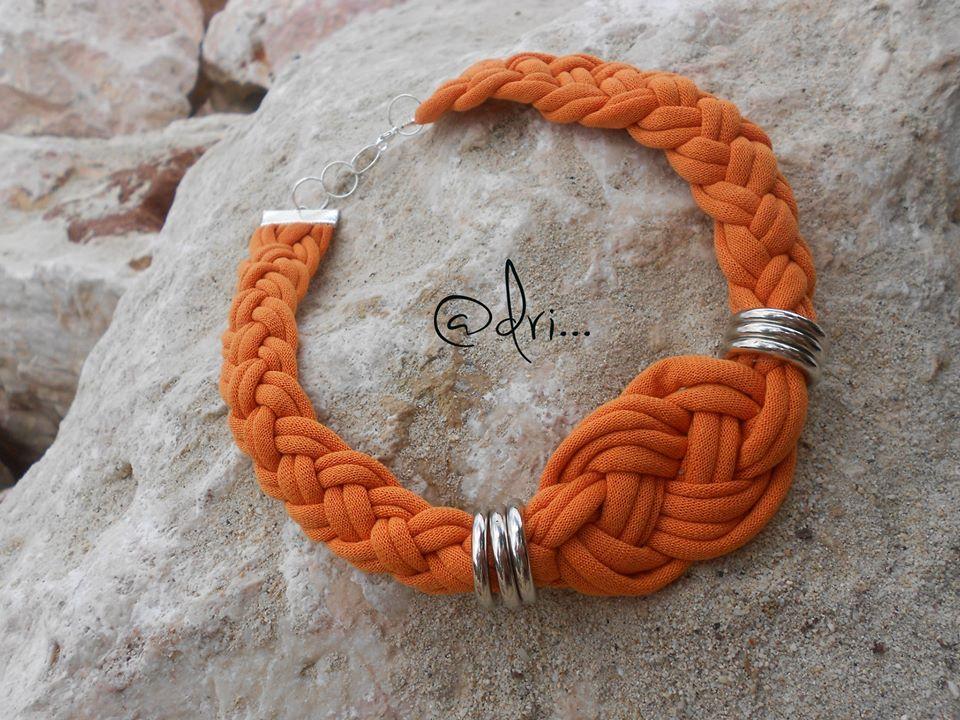 Nudo #celta en tela #trapillo naranja