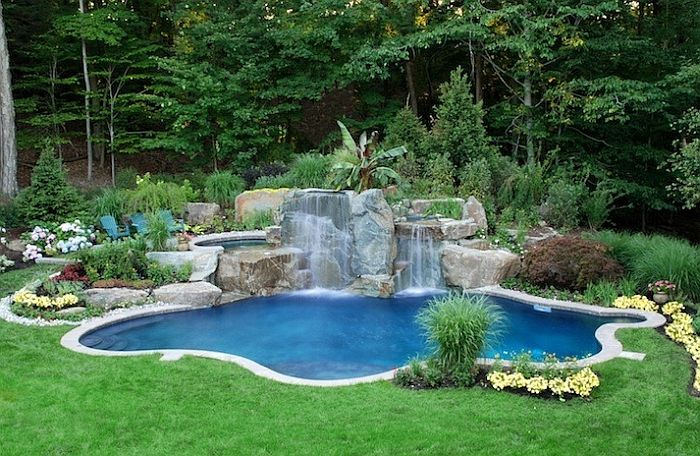 natural swimming pools design ideas inspirations photos - Garden Ideas Around Swimming Pools