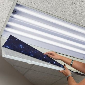 install decorative fluorescent light cover more