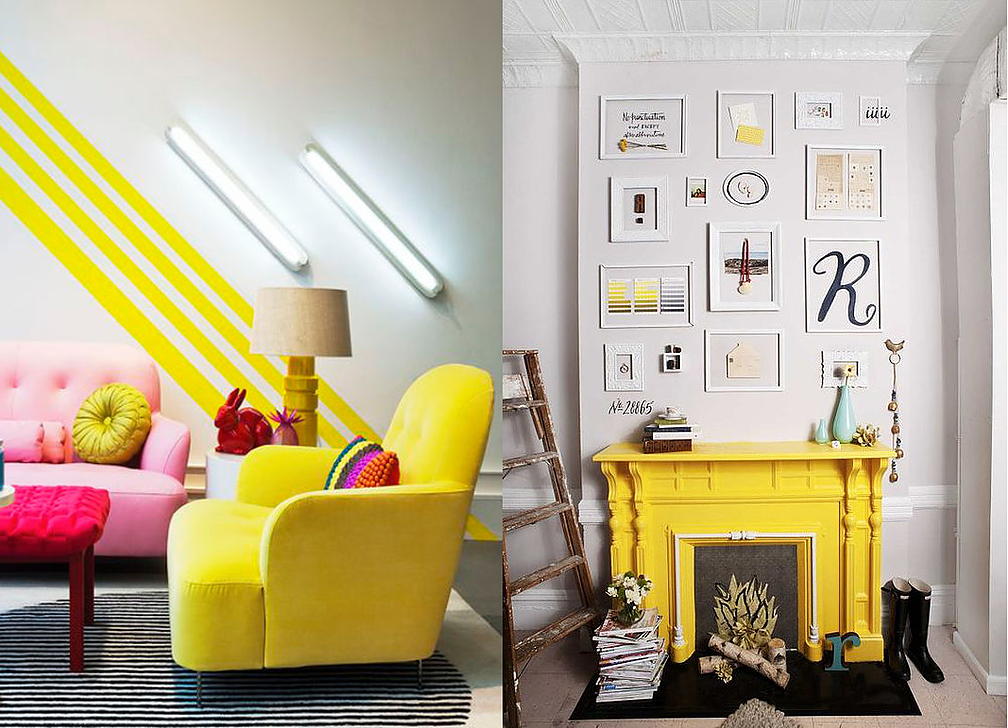 Time to liven up dull spaces with zesty yellows that will bring your home to life. With everything that is currently going on (see Brexit) I think we could use
