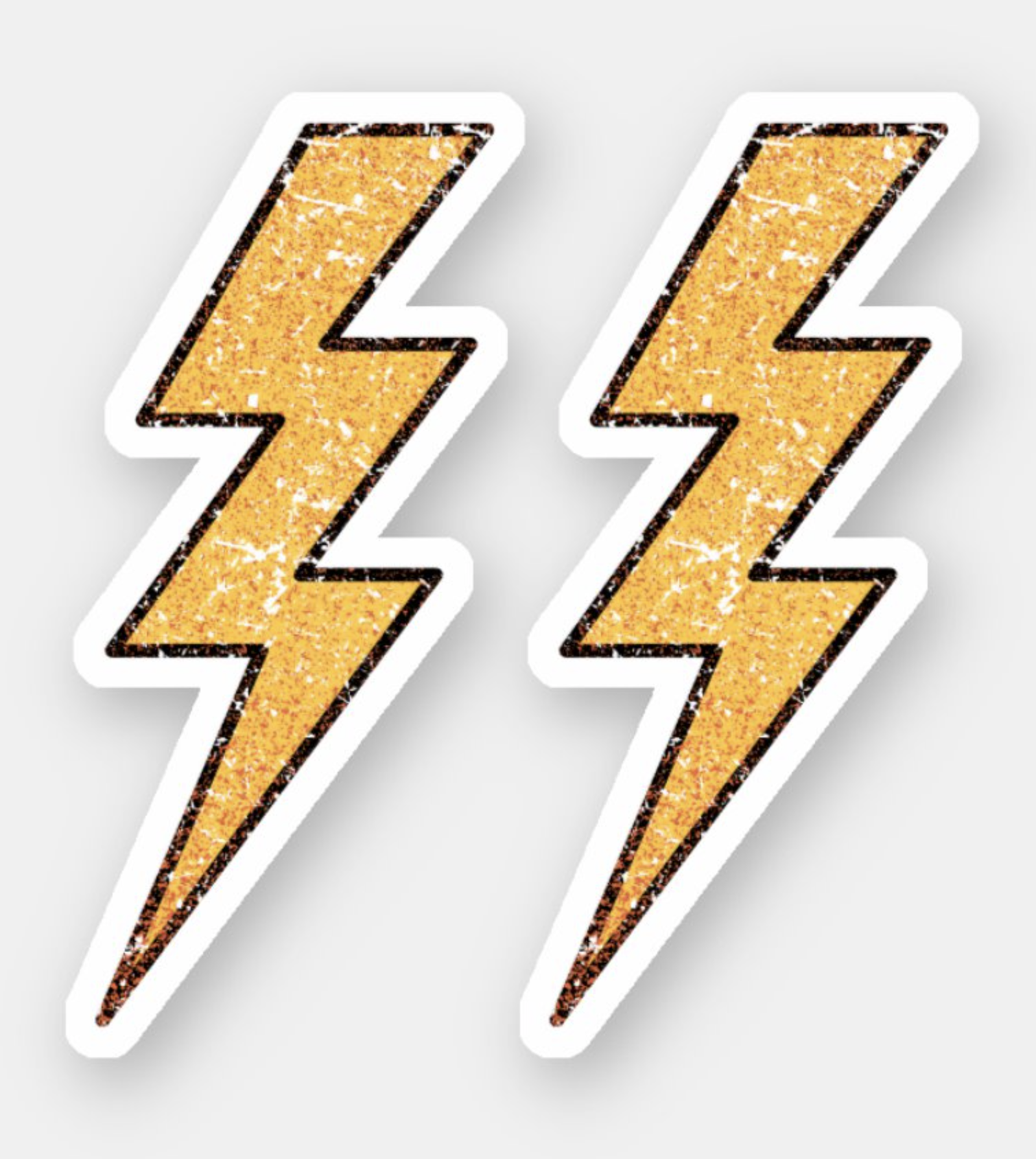Worn Distressed Peeling Paint Lightning Bolts Sticker Zazzle Com In 2020 Lightning Bolt Lightning Distressed Texture