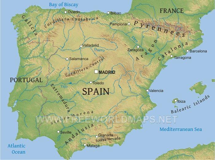 صورة لخريطة اسبانيا