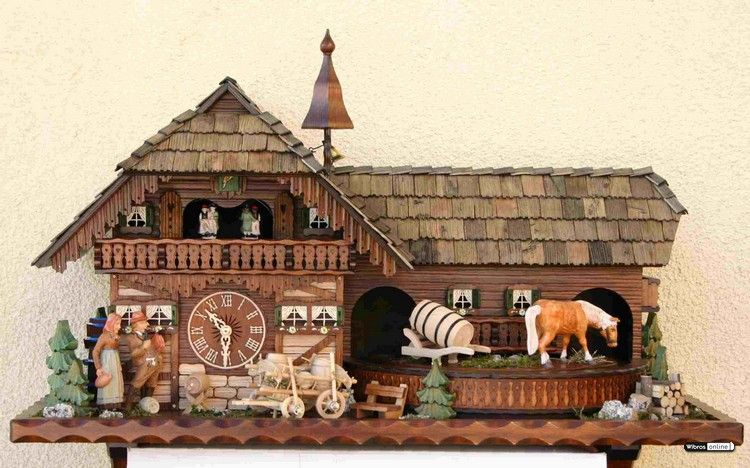 Cuckoo Clock 8-day-movement Chalet-Style 45cm by Rombach & Haas - 45100