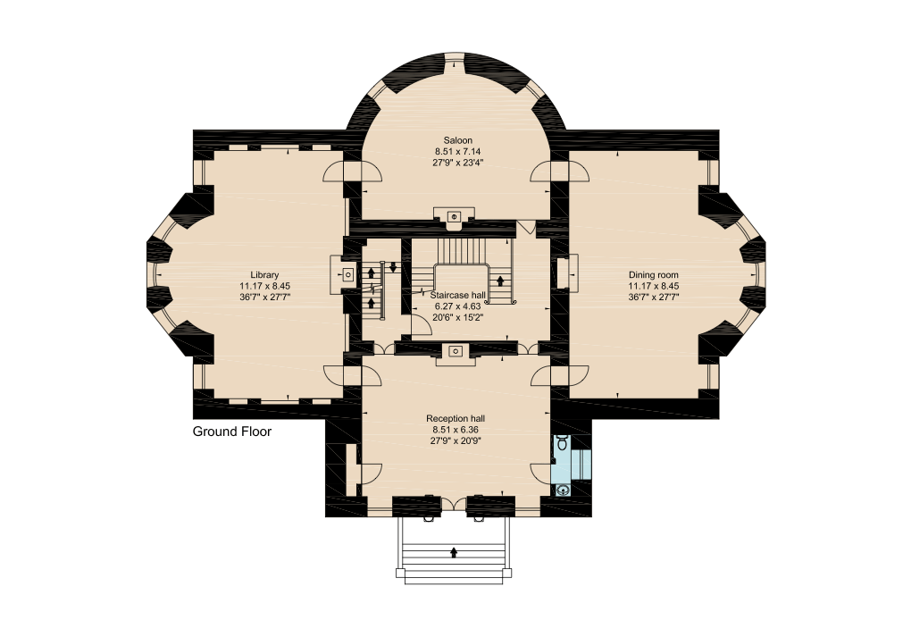 Barlaston Hall Is An English Palladian Country House In The Village Of Barlaston In Staffordshire Vintage House Plans Architectural Floor Plans Mansion Plans