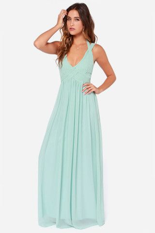 LULUS Exclusive Strike a Minerva Mint Green Maxi Dress