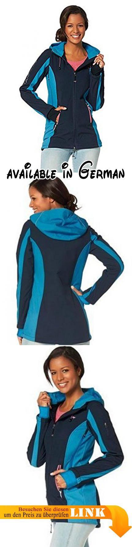 1ae2f3a39004 B01193DLSO   KANGAROOS Damen Softshelljacke Softshell Jacke warm gefüttert  mit Kapuze Blau 44. Atmungsaktiv Wind- und Wasserdicht. Mit Kapuze und s…