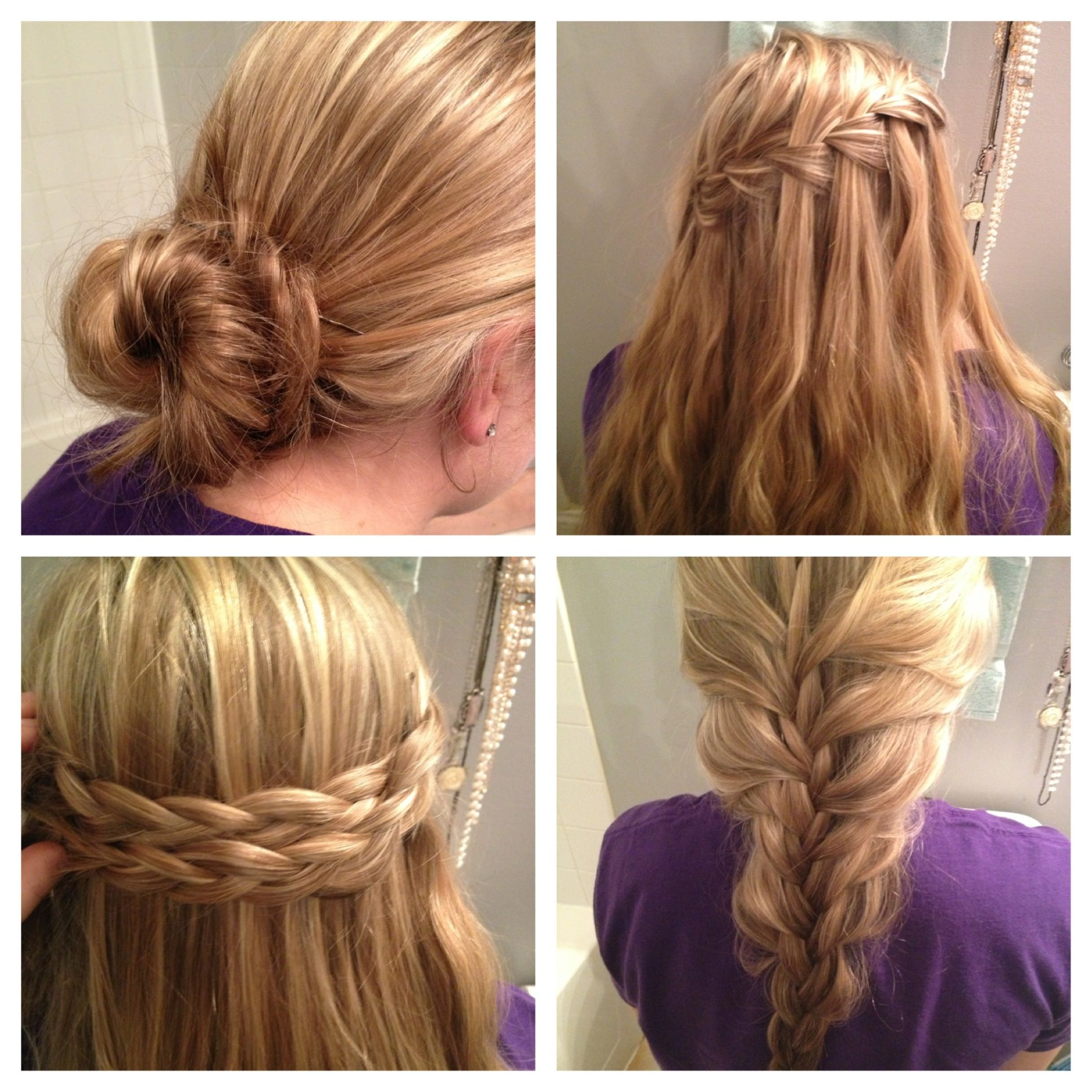 Easy no heat hairstyles Month without heat Pinterest
