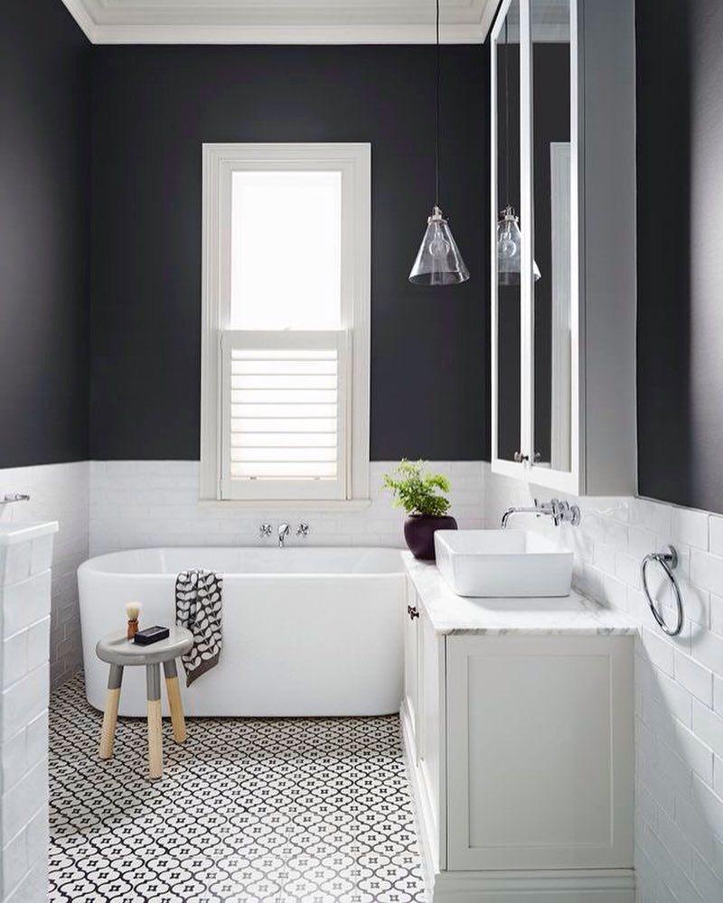 Black and white bathroom idea | Bathroom Updates | Pinterest | Pereira