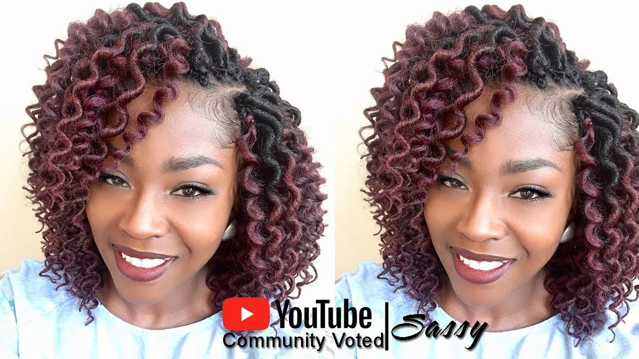 How to Crochet Freetress Curly Faux Loc Bob Mix [Video