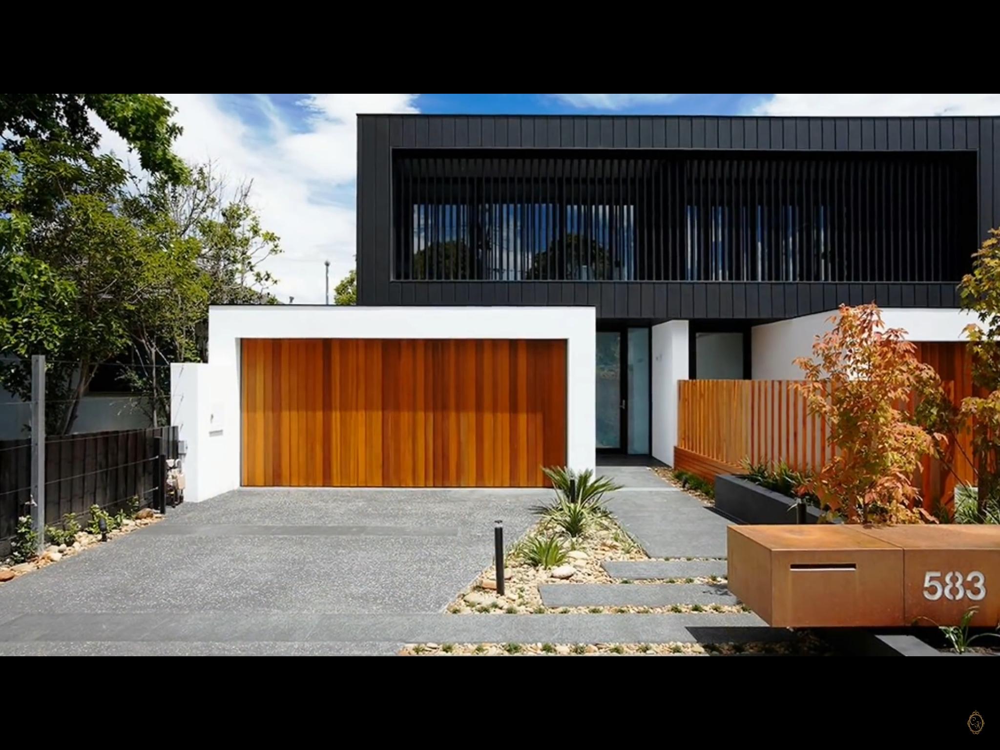 Pin By Jennifer Gee On Container House Modern Garage Doors Garage Doors Contemporary Landscape Design