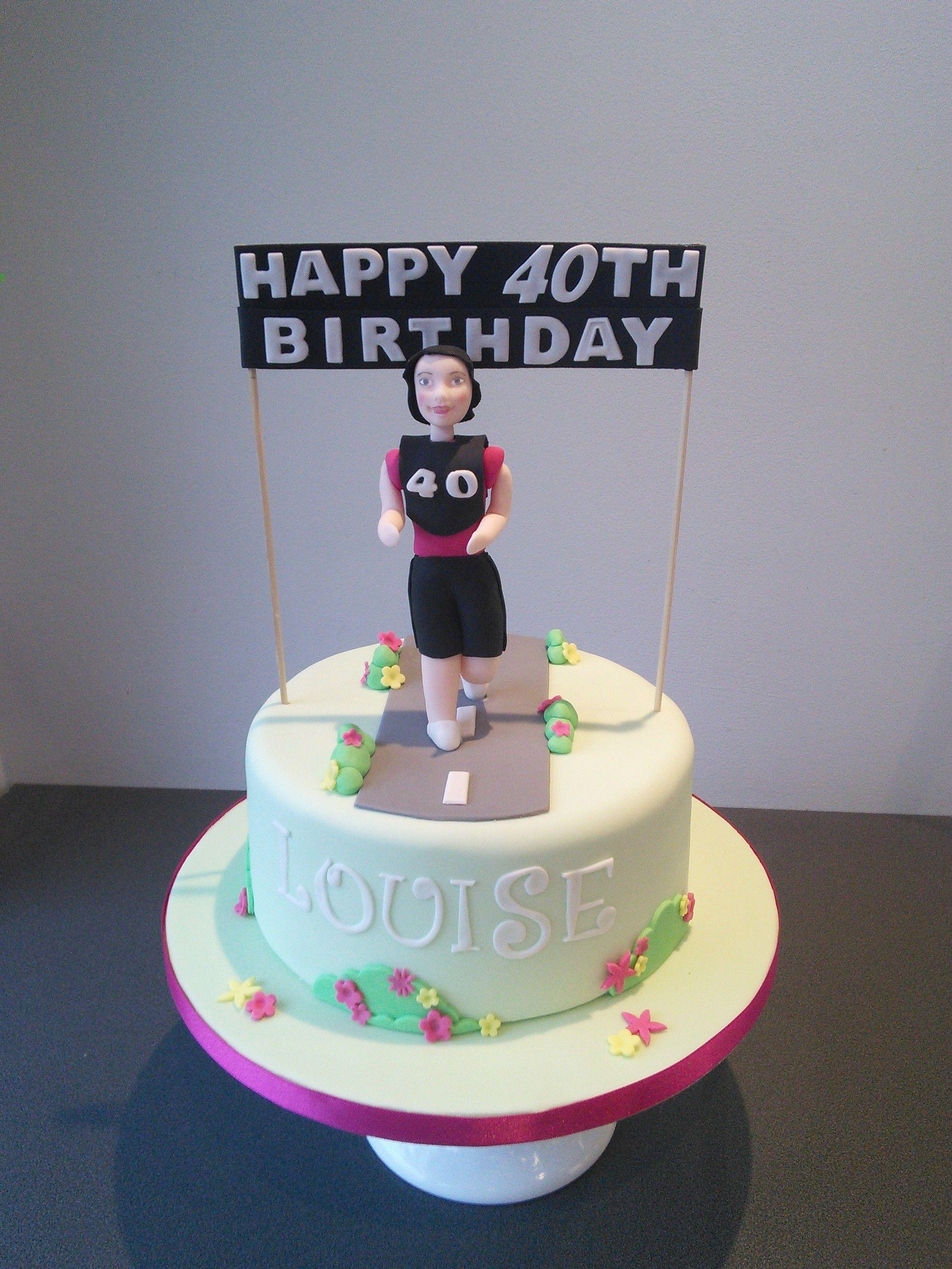 Strange 40Th Birthday Cake Woman Running Running Cake Birthday Cakes Funny Birthday Cards Online Alyptdamsfinfo