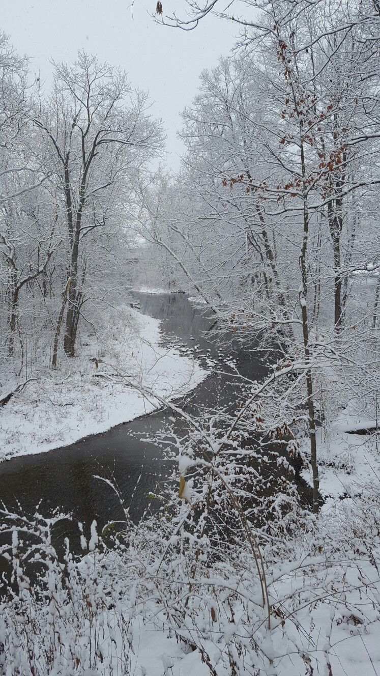 Early Snow Fall in December of 2016, Blacklick, Ohio