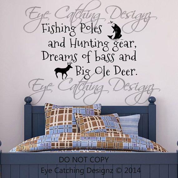 Fishing Poles Hunting Gear Dreams Of Bass Big Ole Deer Country – Fishing Bedroom Decor